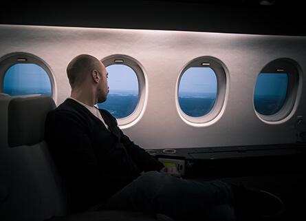 Strefa pierwszej klasy w samolocie